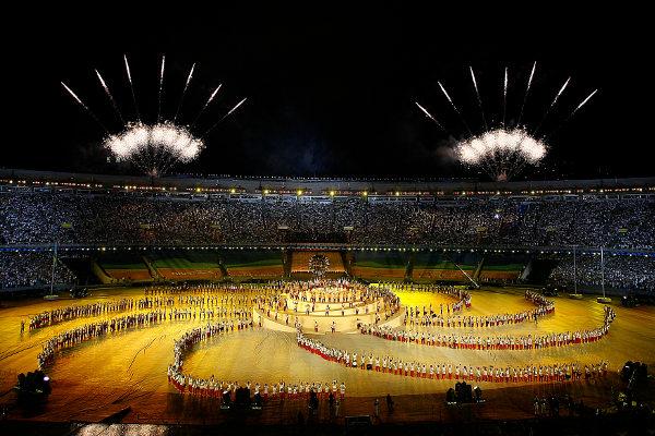 Cerimônia de abertura dos Jogos Pan-Americanos no Rio de Janeiro, em 2007. [1]