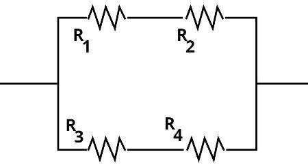Nesse tipo de associação, inicialmente ,soma-se R1 e R2, depois, R3 e R4.