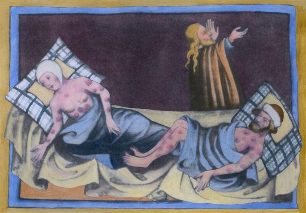 A Peste Negra causou a morte de cerca de 1/3 da população europeia ao longo do século XIV.