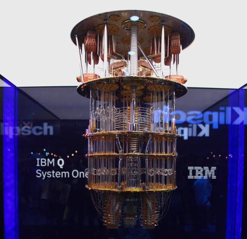 IBM Q, o computador quântico de 20 qubits da IBM, apresentado em janeiro de 2019.