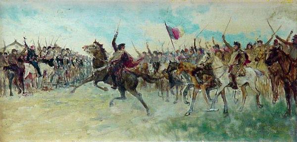 Em setembro de 1836, os farrapos declararam a separação do Rio Grande do Sul do Brasil e a fundação da República de Piratini. [1]