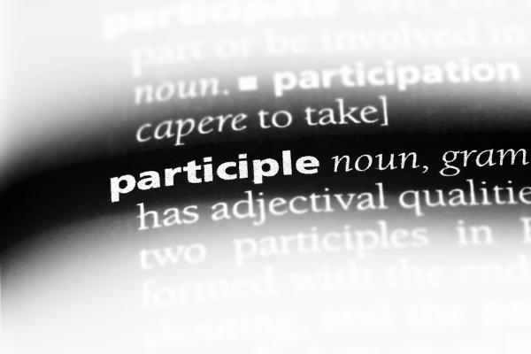 O past participle é uma forma verbal.