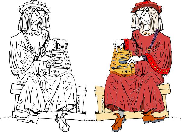 Os trovadores recitavam as cantigas com o acompanhamento de instrumentos musicais.
