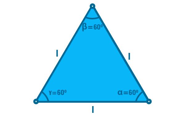 Ângulos do triângulo equilátero