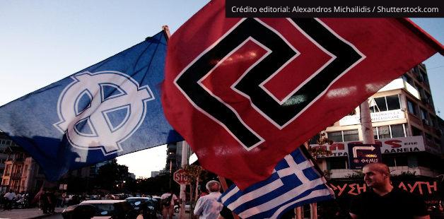 Bandeiras do movimento neonazista