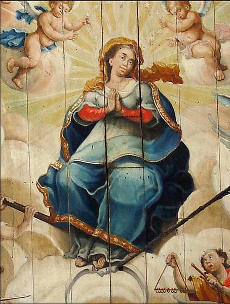 Nossa Senhora da Porciúncula, na Igreja de São Francisco de Assis, em Ouro Preto, de Mestre Ataíde.
