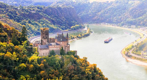 Vale do rio Reno, na Alemanha.