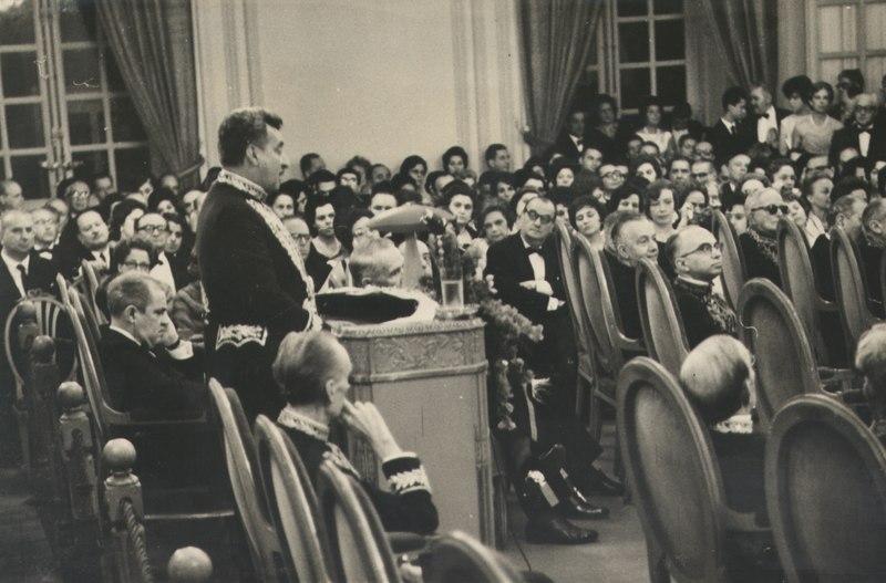 Posse do escritor Jorge Amado na Academia Brasileira de Letras, em 1961. [1]