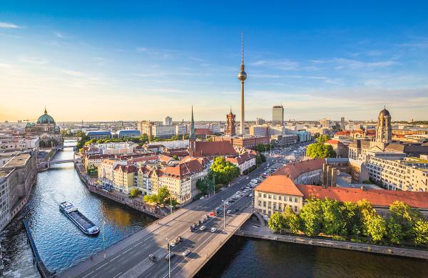 Vista aérea de Berlim, capital da Alemanha.