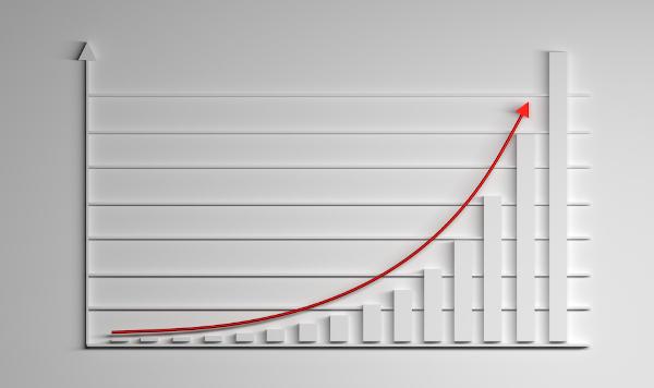 Curva de uma função exponencial