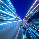 carro em aceleração