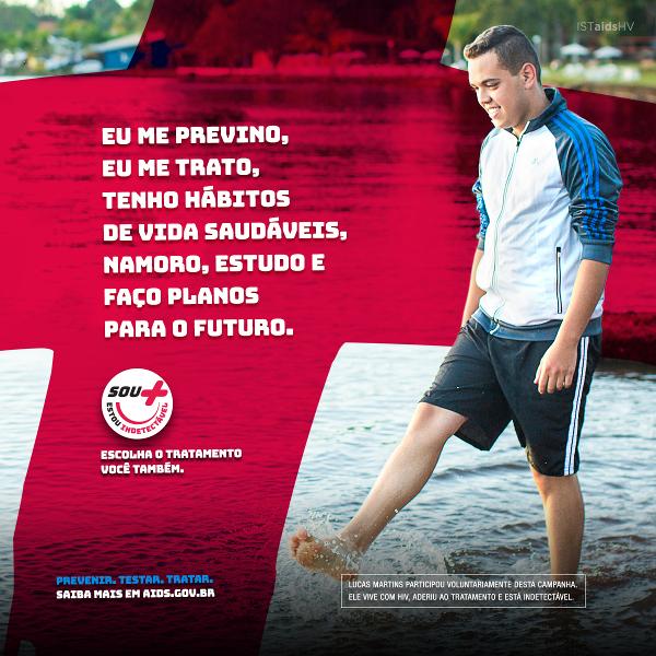 A Campanha Indetectável, do Ministério da Saúde, conta a história de vida de 13 pessoas que vivem com o HIV, com carga viral indetectável.