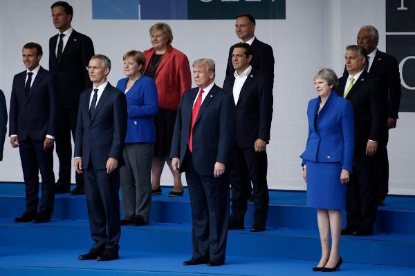 Reunião da Otan, em 2018, Bruxelas, Bélgica. [1]