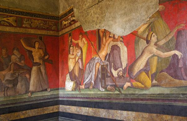 Afrescos da Vila dos Mistérios, em Pompeia.