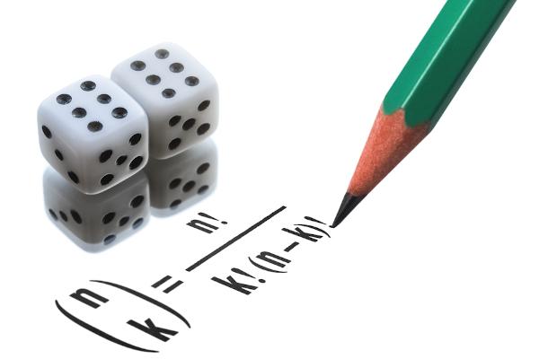 Fórmula da combinação simples.