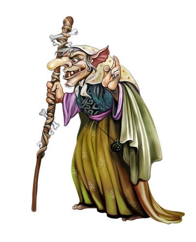 Na lenda tradicional, a Cuca tem a forma de uma mulher muito velha com o rosto horrendo, corcunda e pele enrugada.