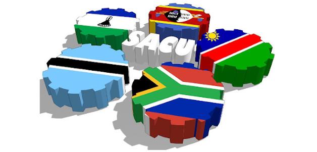 desenho da união aduaneira da África austral