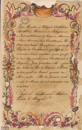 Juramento de d. Pedro I à Constituição de 1824.
