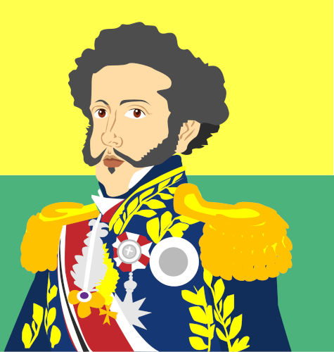O imperador d. Pedro I não aceitou a Constituição da Mandioca, proposta pela Assembleia Constituinte em 1823.