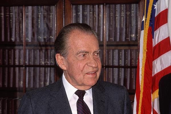 Richard Nixon, em foto de 1990, época em que lançou seu livro de memórias.