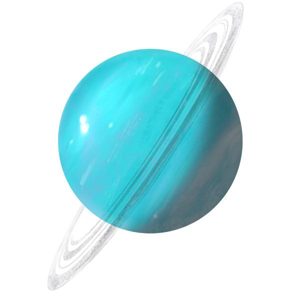 A rotação de Urano acontece de lado.