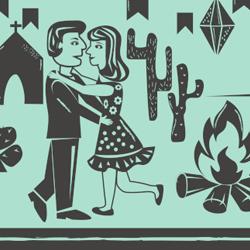 Casal dança festa junina