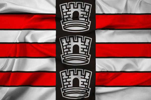 Bandeira da cidade de João Pessoa, capital paraibana.