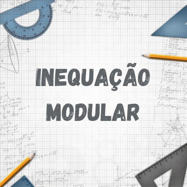 A inequação modular é uma expressão algébrica que apresenta uma desigualdade e uma ou mais incógnitas dentro de um módulo.
