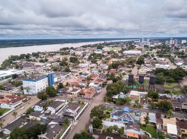 Foto aérea de Porto Velho, capital de Rondônia.