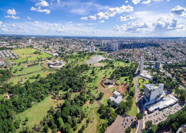 Vista aérea de Campo Grande, capital do Mato Grosso do Sul.