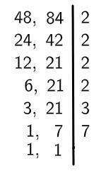 Algoritmo do MMC divisão por 7.