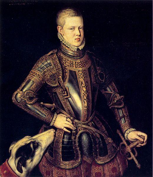 """""""Retrato do rei D. Sebastião"""", obra de Cristóvão de Morais."""