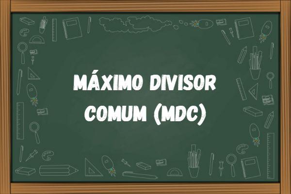 O MDC é o maior número que divide dois ou mais números ao mesmo tempo.