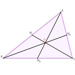 Baricentro de um triângulo