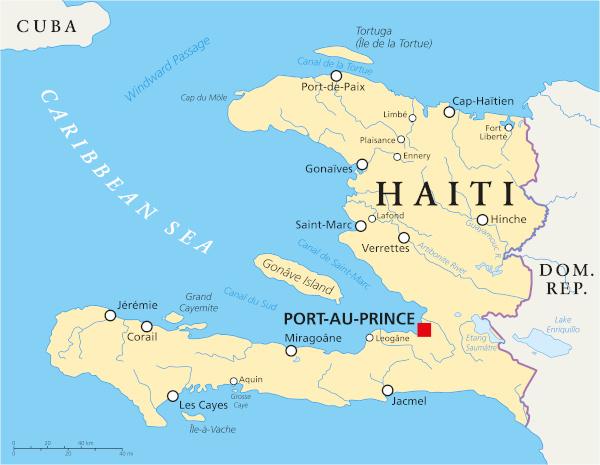 Mapa do Haiti.