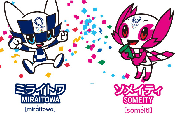 Mascotes das Olimpíadas e Paralimpíadas