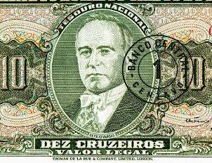 Getúlio Vargas em uma nota de dinheiro