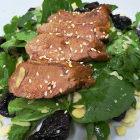 lombo de carneiro com salada de agrião