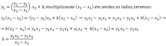 Obtendo a expressão para o coeficiente (b)