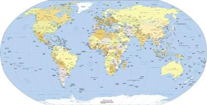 Projeo de Robinson Os mapas na Projeo de Robinson  Brasil Escola