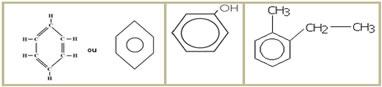 Exemplos de cadeias carbônicas aromáticas