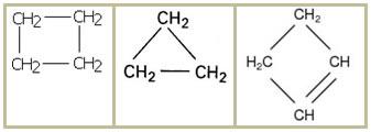 Exemplos de cadeias carbônicas não aromáticas