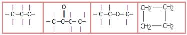 Exemplos de cadeias carbônicas saturadas