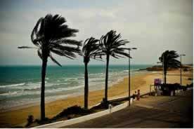Vento na praia