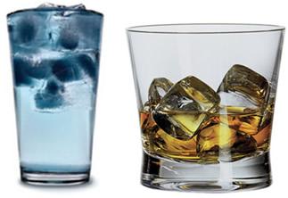 Gelo adicionado a líquidos com diferentes densidades
