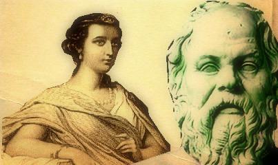 Diotima (aquela que iniciou Sócrates nos mistérios do amor) e Sócrates