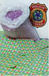 Comprimidos de ecstasy apreendidos pela polícia