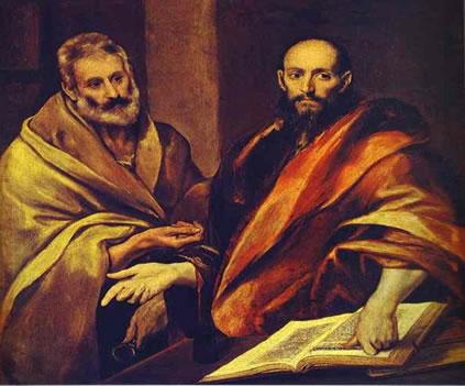 """A verticalidade da Pintura """"São Pedro e São Paulo"""".  El Greco (1541-1614) - Espanha"""