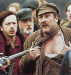 Cenas do filme O Germinal, com Gérard Depardieu