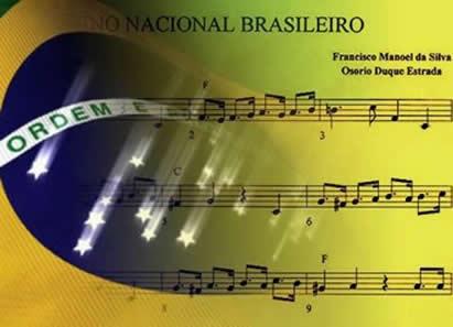 O Hino Nacional Brasileiro e a Bandeira Brasileira simbolizam o nosso país